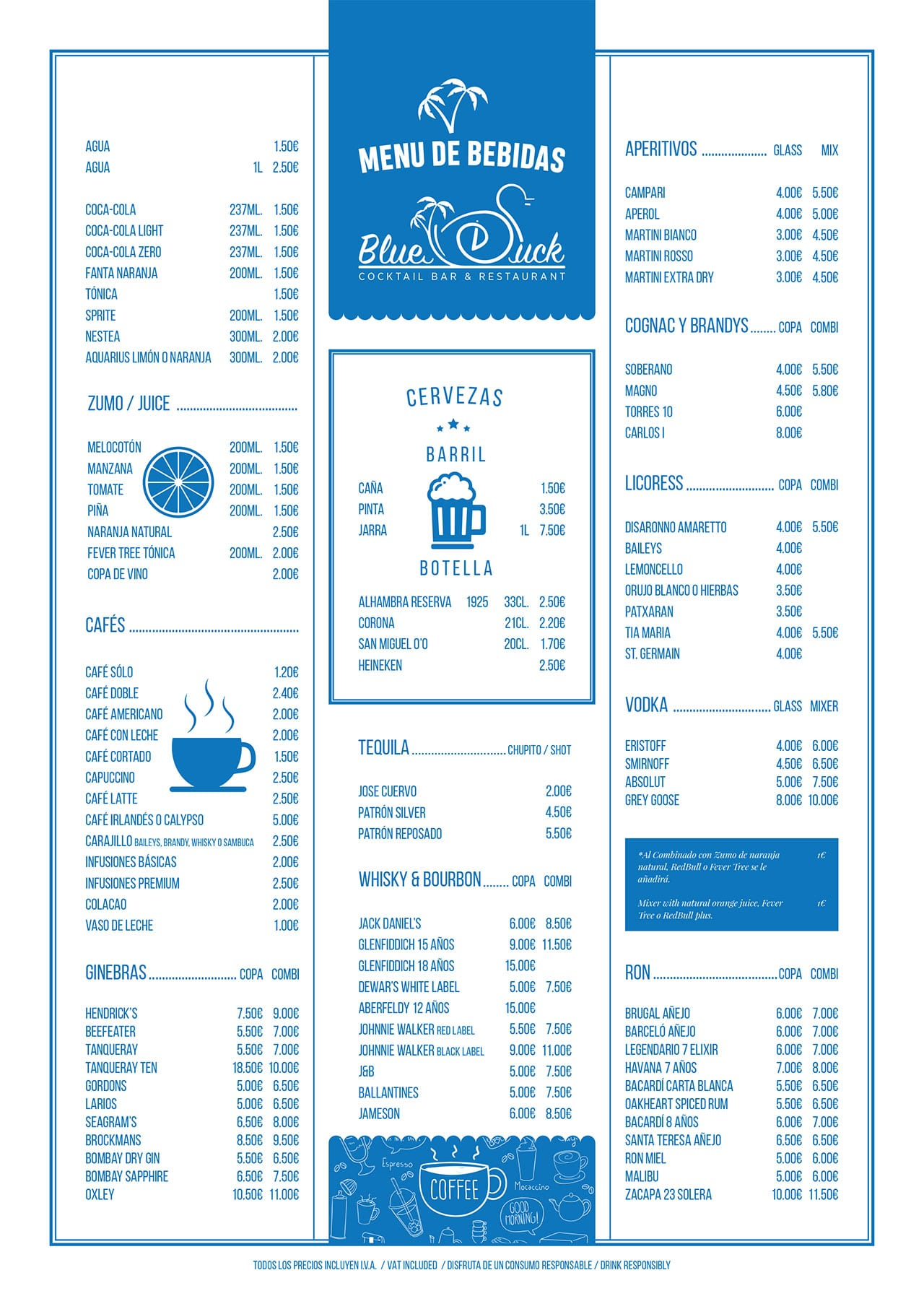 Drinks Menu - Blue Duck Restaurant
